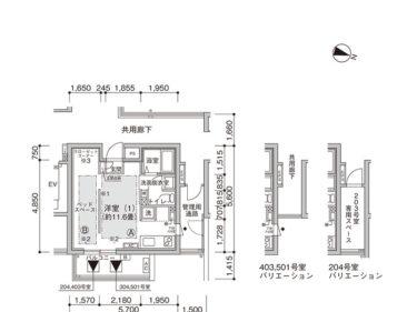 【1K -F】UR賃貸 新築「コンフォール東池袋」間取り図